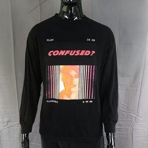 "(16) pleasures ""confused"" long sleeve t-shirt"